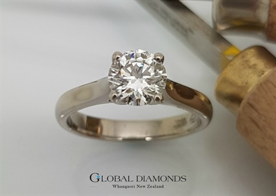 18ct White Gold Classic Diamond Solitaire Ring