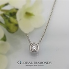 18ct White Gold Diamond Slider Pendant