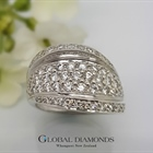 9ct White Gold Diamond Pavé Dress Ring
