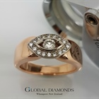 9ct Rose Gold and Diamond Dress Ring
