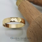9ct Yellow Gold Hexagon Patterned Ring