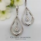 18ct White Gold Tear Drop Diamond Earrings