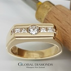 9ct Yellow Gold Diamond Set Dress Ring
