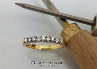 18ct Two Tone Gold Diamond Set Ring