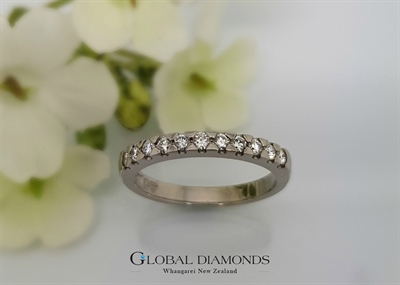 18ct White Gold Diamond Set Ring