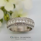 9ct White Gold Mixed Diamond Ring
