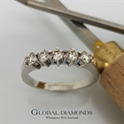 18ct White Gold Claw Set Diamond Ring