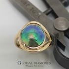 9ct Yellow Gold Blue Pearl Ring