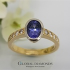 9ct Gold Colour Change Sapphire and Diamond Ring