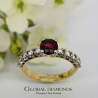 18ct Two Tone Ruby and Diamond Ring