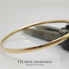 Solid 9ct Yellow Gold Golf Bangle