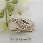 9ct White Gold and Pave Diamond Dress ring