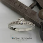 9ct White Gold 0.25ct Diamond Solitaire With Diamond Set Shoulders