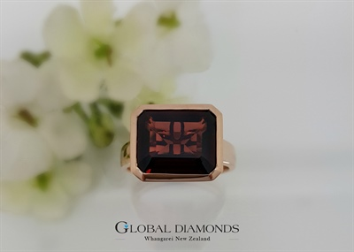 9ct Rose Gold And Garnet Dress Ring