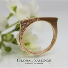 9ct Rose Gold And Champagne Diamond Ring