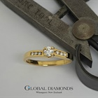 18ct Yellow Gold Claw set Diamond Ring