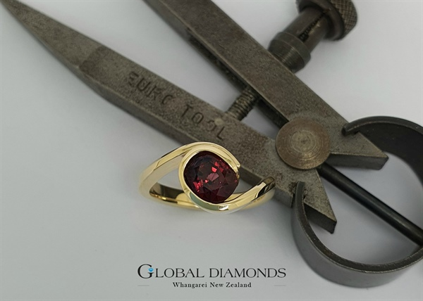 9ct Yellow Gold Rhodolite Garnet Ring