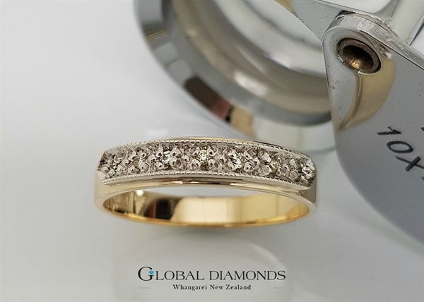 9ct Gold Two Tone Vintage Styled Ring