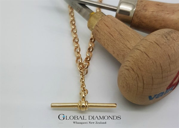 9ct Yellow Gold Belcher Chain with Fob